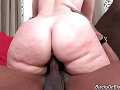 Slutty white chick Virgo Peridot gets fucked by two black guys.