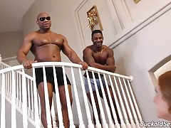 They fuck her until she has a gushing orgasm, making a mess all over herself! Of course Mistress Skylar`s cuck is there to clean her, whether it`s her ejaculate -- or the Bulls! One of the Bulls paints Mistress Skylar`s phat ass with a huge load; the othe
