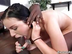 Awesome Marley Matthews adores fucking with black dude.