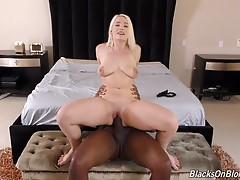 She`s blonde. She`s busty. She`s a brand new starlet. She`s Hadley Viscara, and she`s making her debut on the Dogfart Network by taking on the one -- and only -- Mandingo! `What is that...15 inches?` Hadley gasps, pulling Mandingo`s massive hard-on out of