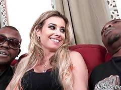 Hot looking blonde Alana Luv is a true black cock slut.