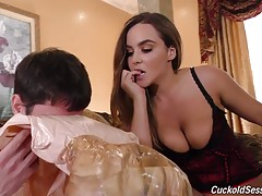 Natasha is such a giving Cuckoldress! Round two includes sweet Natasha allowing her sissies to warm up both holes with their tongues, even though it bores her to tears! Thank goodness that`s when The Bulls arrive. Time for Round Three: make no mistake abo